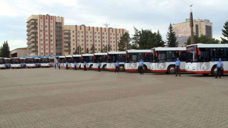 Көкшетау автобус паркінің қоғамдық көліктеріне жүруге тиым салынды