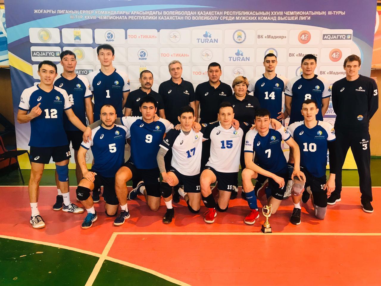 Волейбол:«Ұшқын — Көкшетау»командасы ел чемпионы атанды