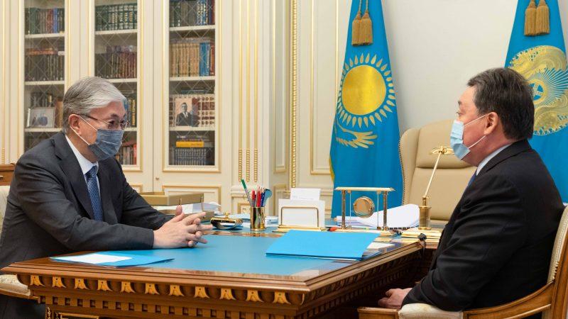 Мемлекет басшысы Қасым-Жомарт Тоқаев Премьер-Министр Асқар Маминді қабылдады