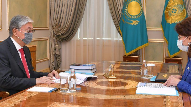 Президент Қасым-Жомарт Тоқаев Ақпарат және қоғамдық даму министрі Аида Балаеваны қабылдады