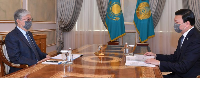 Мемлекет басшысы Денсаулық сақтау министрі Алексей Цойды қабылдады