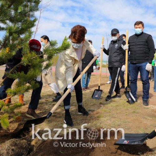Аида Балаева «Киелі табиғат» экологиялық акциясын бастап берді