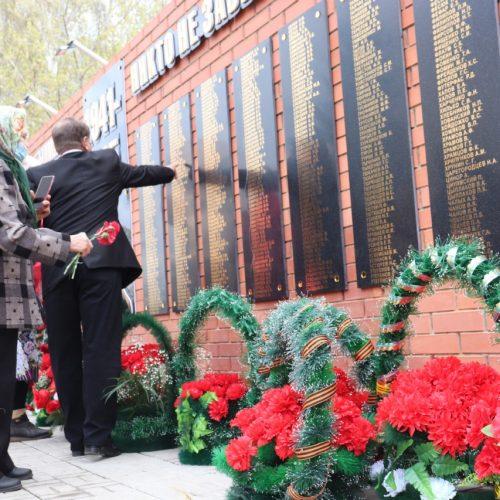 Сандықтау ауданында соғыс ардагерлеріне мемориалдық ескерткіш тақта ашылды