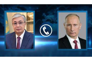 Қасым-Жомарт Тоқаев Владимир Путинмен телефон арқылы сөйлесті