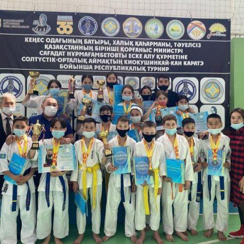 Ақкөл қаласында киокушинкай кан каратэден республикалық турнир өтті