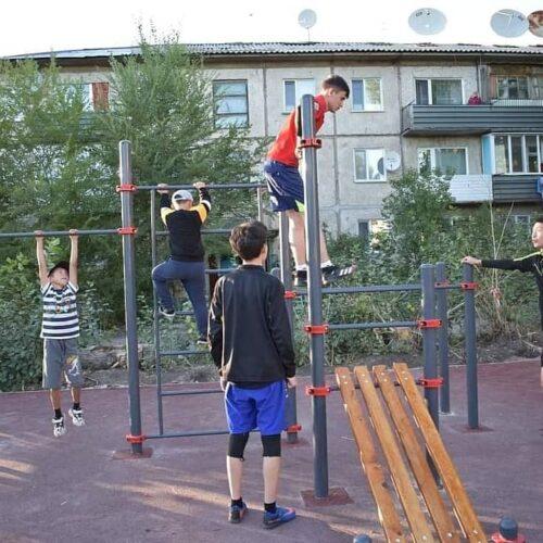 Макинск қаласында спорт және ойын алаңдары ашылды